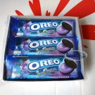 Oreo Blueberry Ice-cream flavor Sandwich cookie Biscuit packs sweets snacks cookies