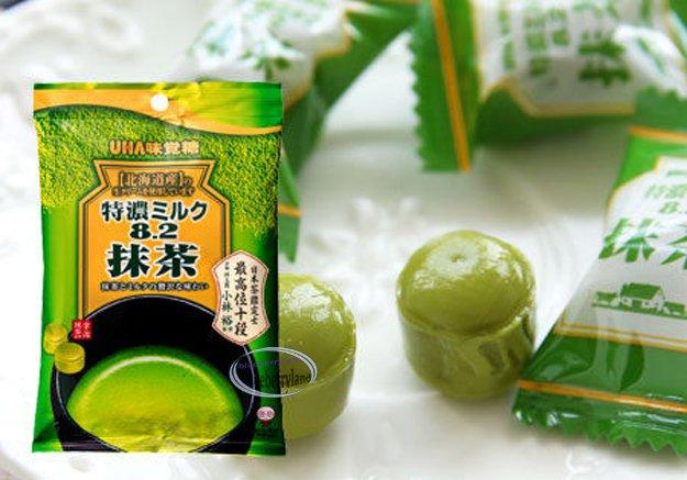 UHA TOKUNO 8.2 Green Tea Matcha Milk Candy sweets snack Soft chewy Candies kid