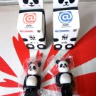Medicom Toy WWF KFC BB Panda Milk Tea Be@rbrick Bearbrick x 2Pcs collectible gift