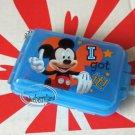 Disney Mickey Mouse Pill Case Box holder dispenser keeper BLUE organizer TW