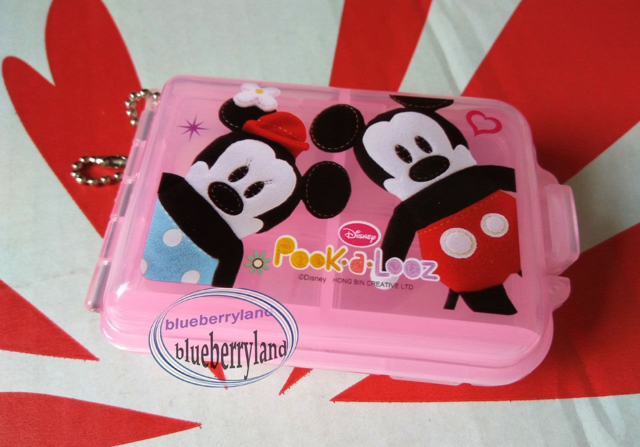 Disney Mickey Mouse Pill Case Box holder dispenser keeper PINK organizer TW