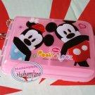 Disney Mickey Mouse Pill Case Box holder dispenser keeper PINK organizer TW