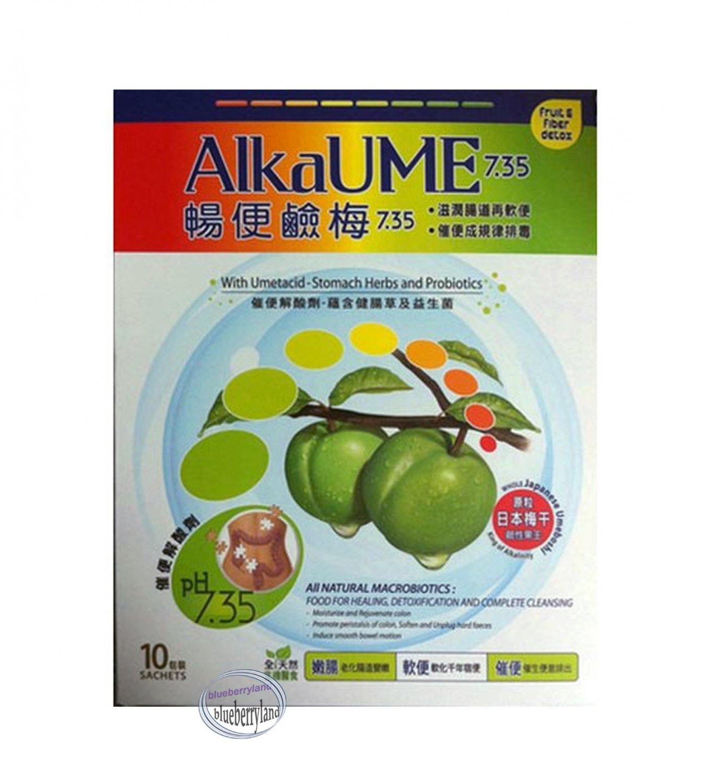 AlkaUME 7.35 �便鹼� Umeboshi Cleanse Detox Natural Fruit & Fiber Slimming 10 packs healthy
