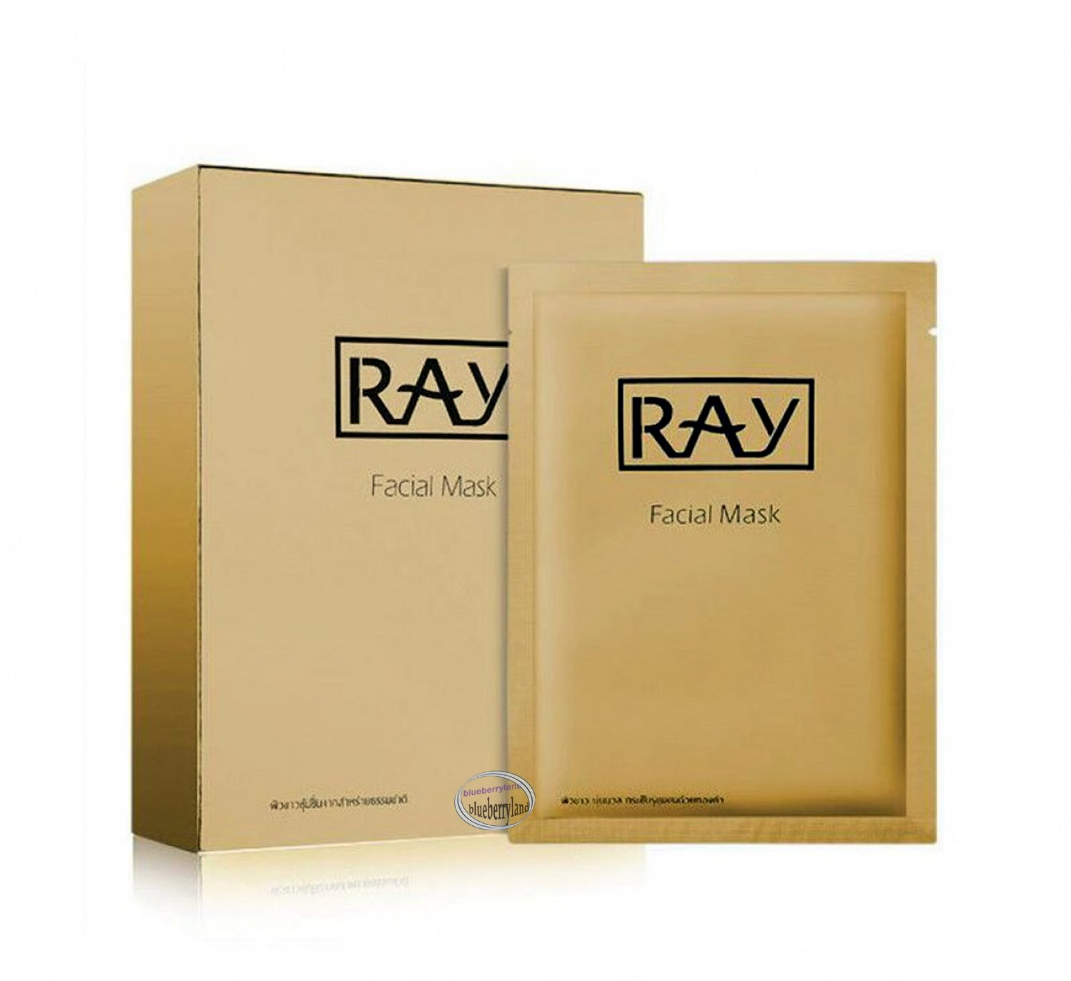 Ray Gold Facial Mask 10 Pcs for for Whitening Brightening Moisturizing Firming  ladies skin care