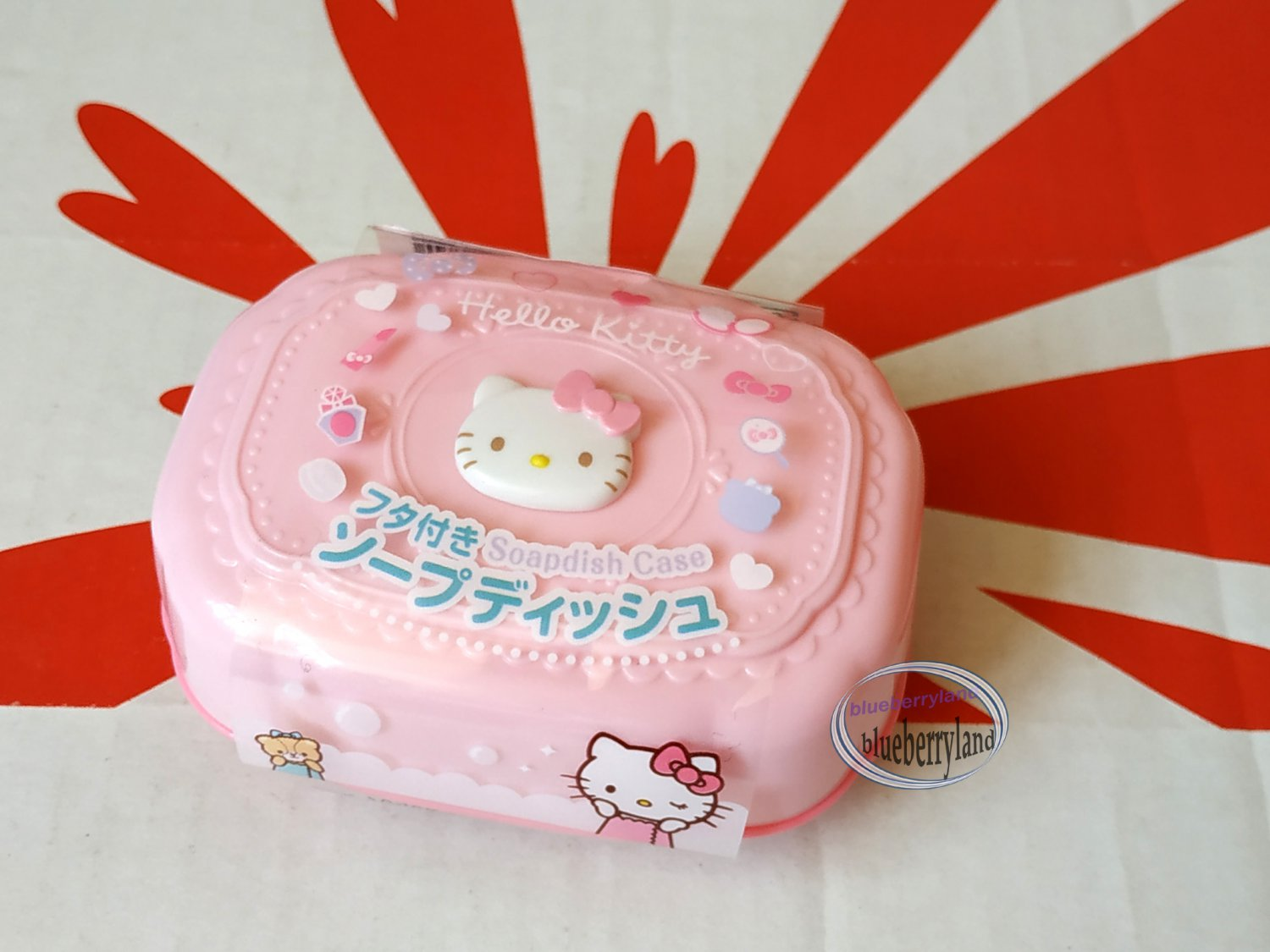 Sanrio Hello Kitty Soapdish Case Soap Dish Holder Pink bathroom accessories