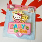 Sanrio Hello Kitty baby in car safety sign child babies boys decals nursery