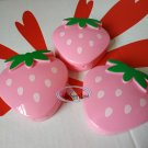 3pcs Strawberry shaped small boxes set snack side dish Box Food case ladies girls