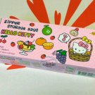Sanrio HELLO KITTY Grip Seal Zip Lock Resealable Bag 17.8 x 20.3cm kitchen ladies 18 bags