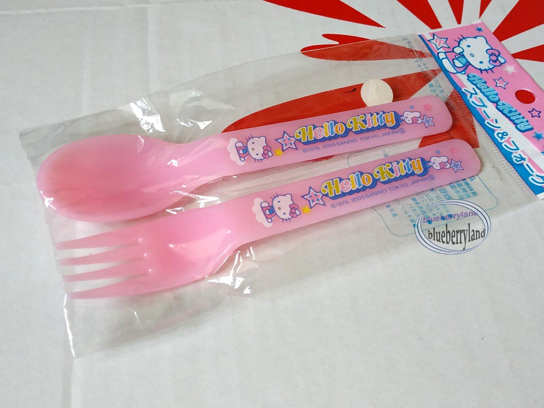 Sanrio Hello Kitty Fork & Spoon set kitchen Cutlery home Pink KTC