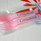 Sanrio Hello Kitty Fork & Spoon set kitchen Cutlery home Pink KTC