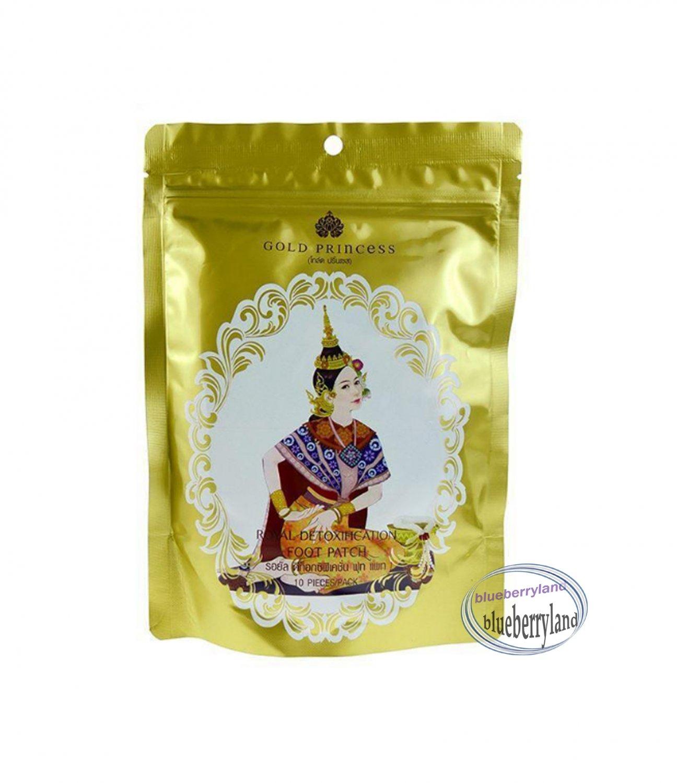 10 Pcs Thai Gold Princess Royal Detox Foot Patch Alternative Remedies foot treatment beauty ladies