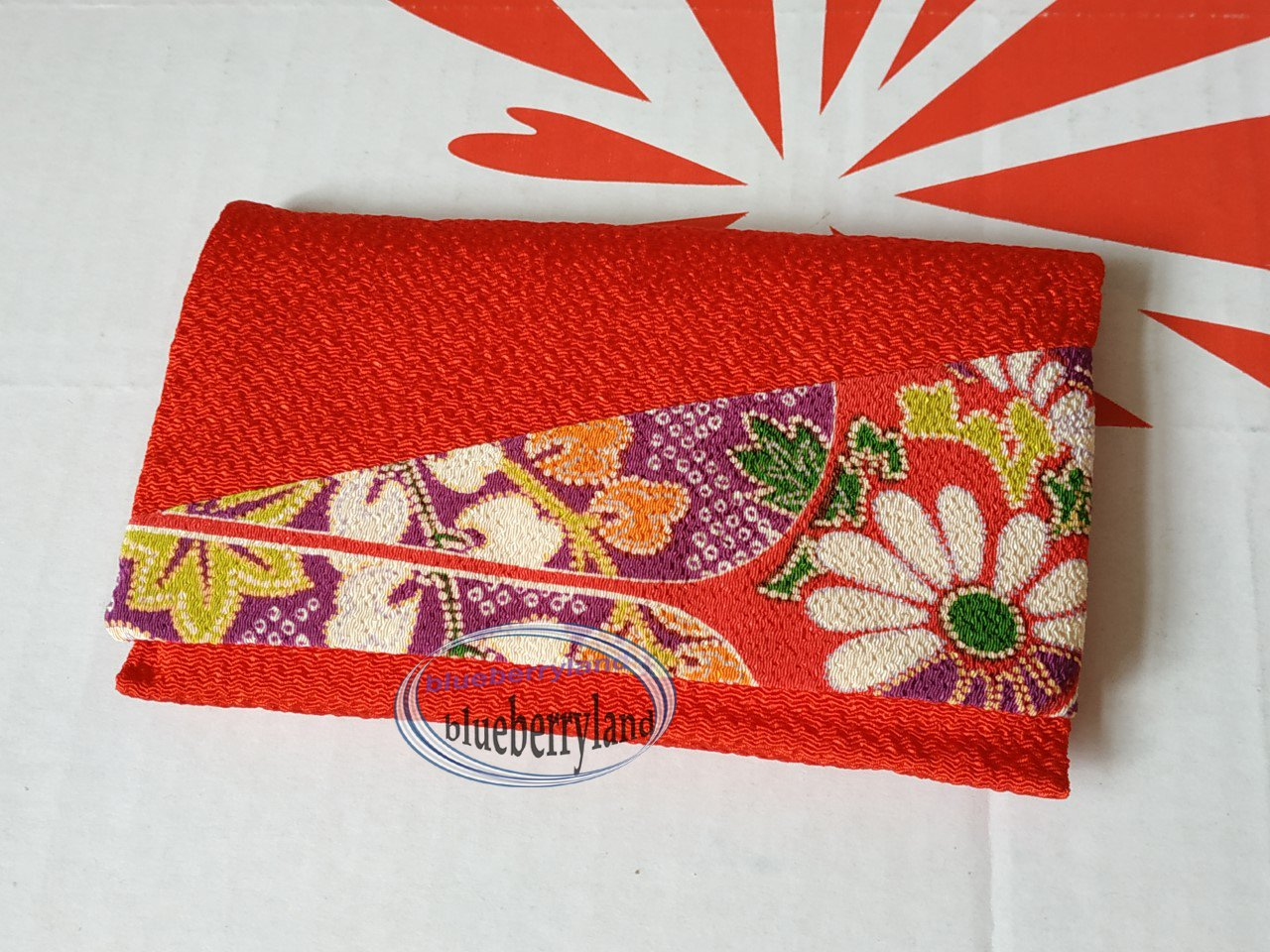 Japanese style Red Pouch Bag purse