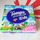 12 Pcs TEMPO Kids Petit Pocket Tissue Paper packs handkerchiefs Strawberry