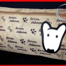 English Bull Terrier Dog Pencil Bag Cosmetic Makeup Purse back to school purse