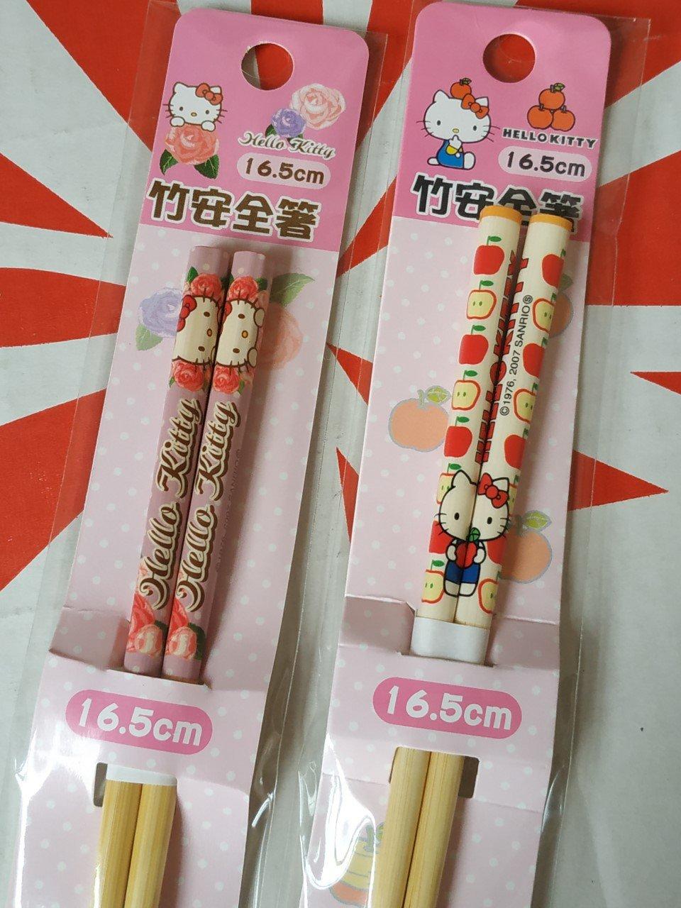 Sanrio HELLO KITTY Chopsticks set home dinning bento lunchbox accessories 2 pairs ladies girls