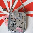 Betty Boop & Pudgy Silver Purse Case Bag pouch ladies
