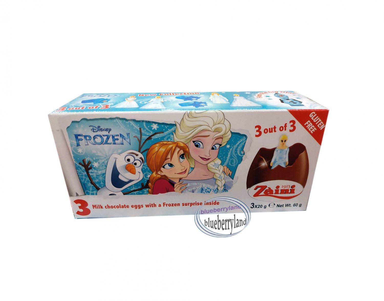 Zaini Disney FROZEN Chocolate Surprise 3 Eggs With Toy Figure Inside choco ladies kid NA