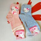 Sanrio Hello Kitty Socks set ladies girls Women's crew Sock 22 - 26cm blue & pink