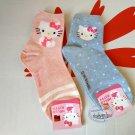 Sanrio Hello Kitty Socks set ladies girls Women's crew Sock 22 - 26cm blue & pink
