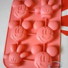 Disney MICKEY MOUSE SILICONE Mold Food Cake Mould pudding jello chocolate jelly ice cube kit Japan