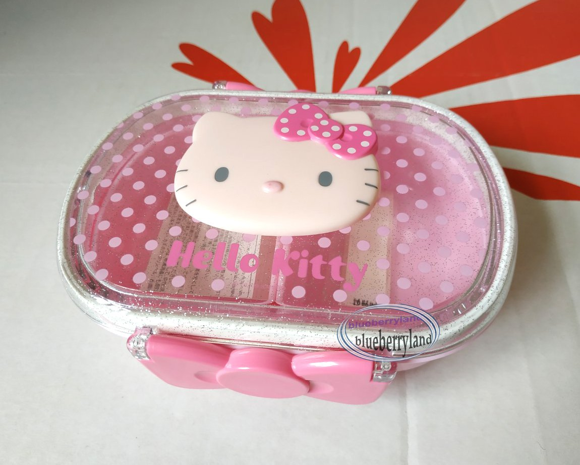 Sanrio Hello Kitty Microwave Bento Lunchbox Food Container Pink Lunch Box