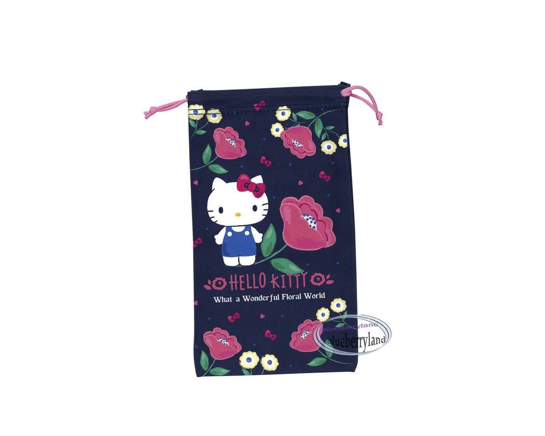 Sanrio HELLO KITTY Drawstring Bag Mobile Cell Phone BAGS glasses case