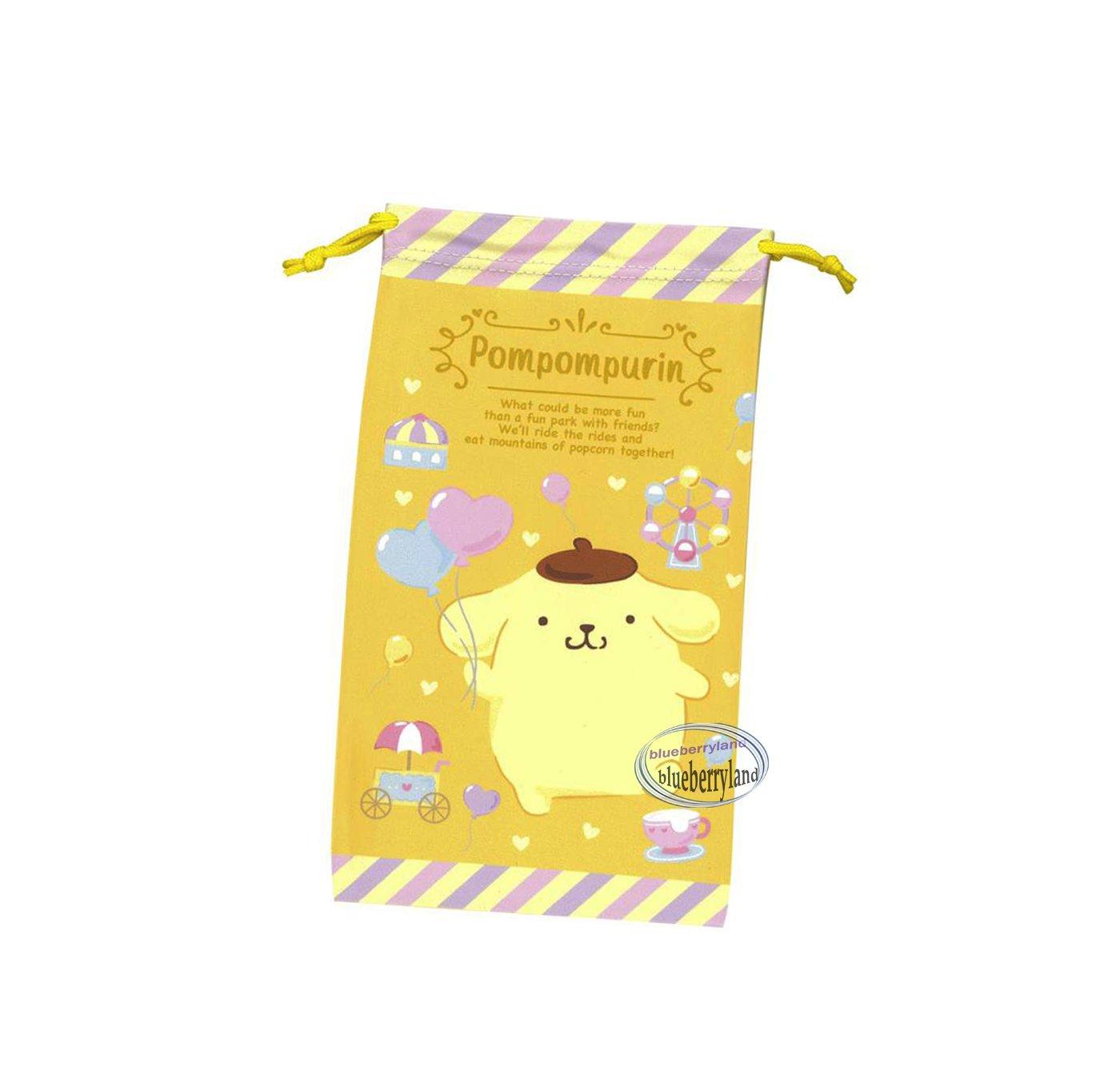 Sanrio Pompompurin Drawstring Bag Mobile Cell Phone BAGS glasses case Kitty
