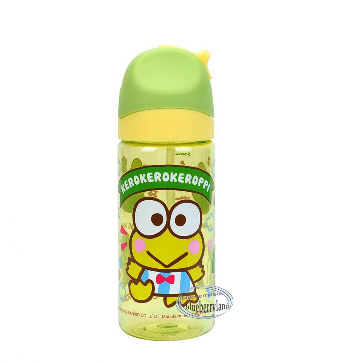 Sanrio Kerokerokeroppi Water Bottle with straw BPA Free drinkware Juice container 350ml P9