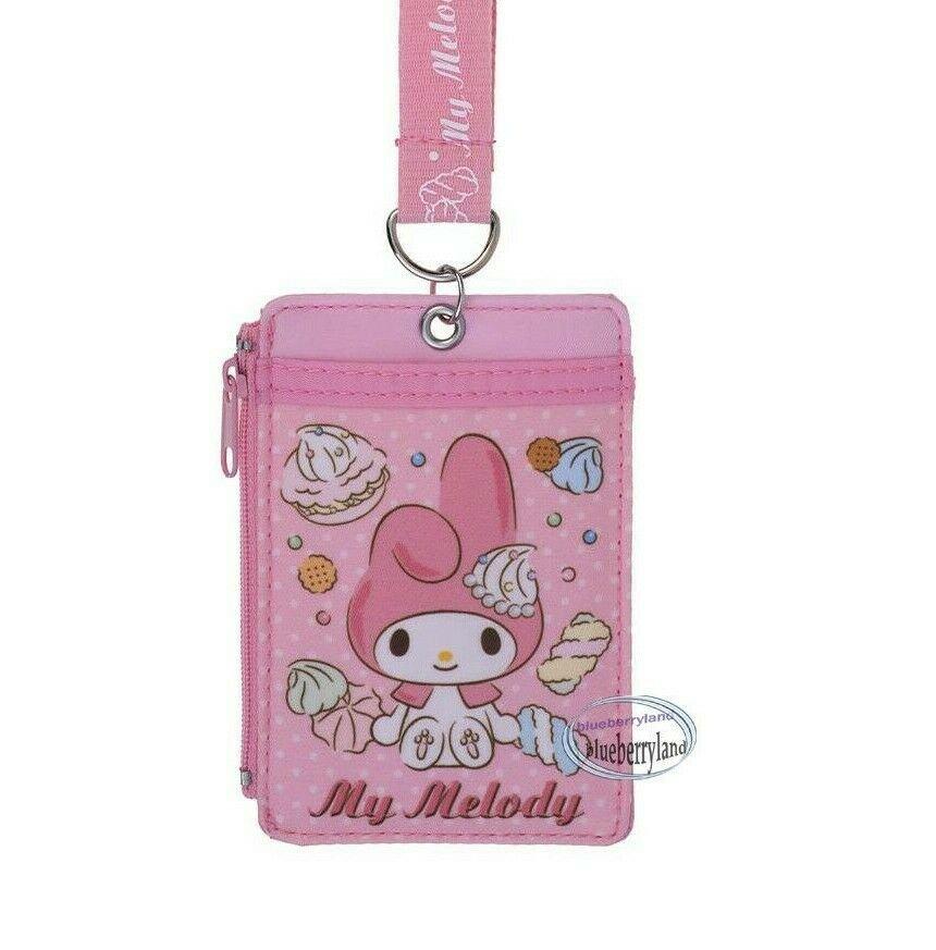 Sanrio My Melody Lanyard Tag School Work Pass ID tags Holder Girls Ladies  P9