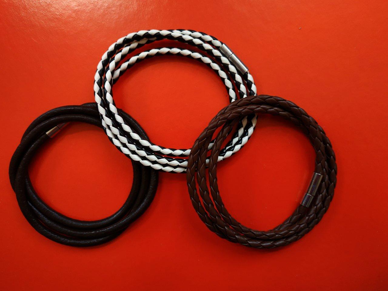 3 Pcs Fashion Unisex Leather Bracelet Surf Bangle Wrap Adjustable Bracelet