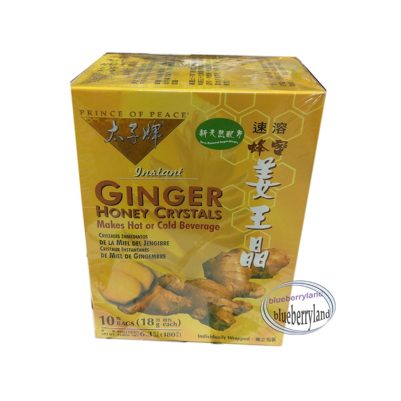 Instant Ginger Honey Crystals 10 Bags Instant Drink mix Beverages