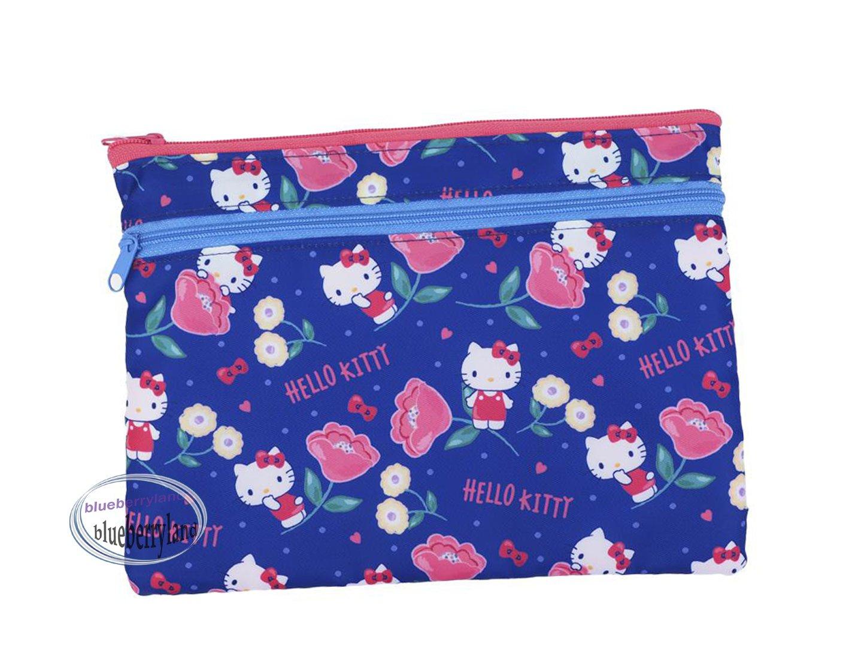 Sanrio Hello Kitty Zip bag Double Zipper Pouch bags ladies girls school office