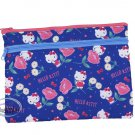 Sanrio Hello Kitty Zip bag Double Zipper Pouch bags ladies girls school office