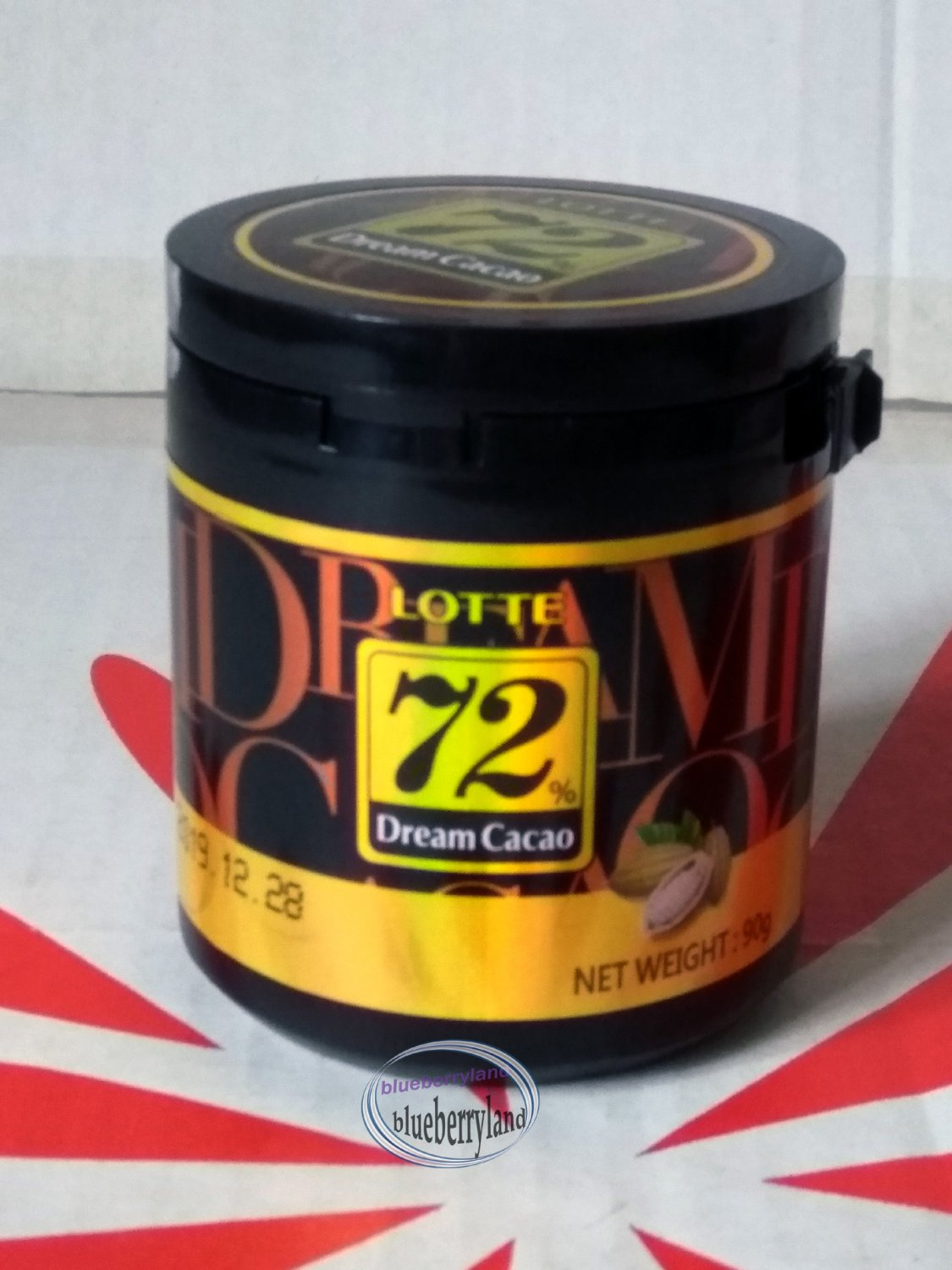 Lotte 72% Dream Cacao Dark Bitter Chocolate snack candy sweets ladies kid