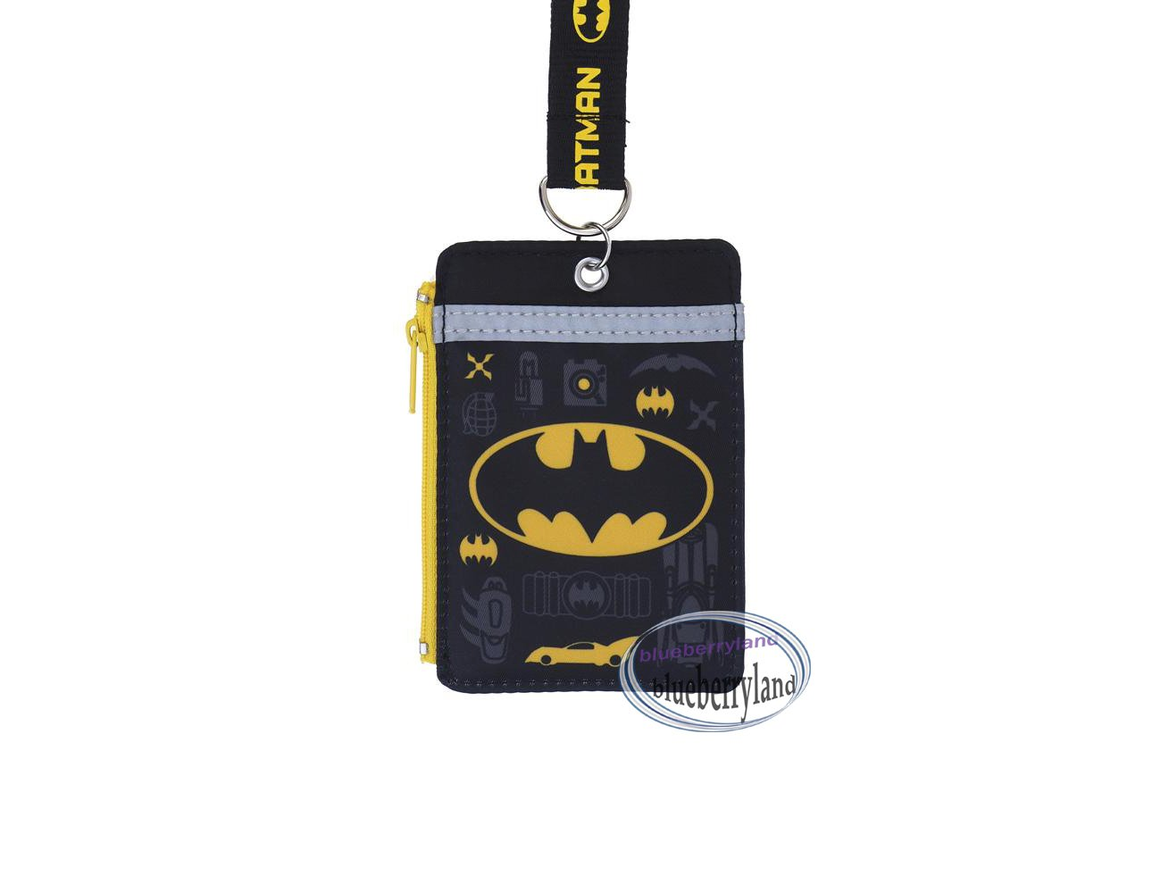 Batman Lanyard Name Tag Card Holder with Neck Strap school work bus pass ID tags P9