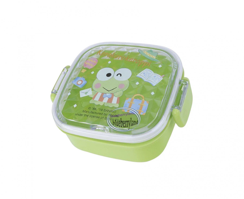Sanrio KeroKeroKeroppi Square Plastic Box FOOD STORAGE CONTAINER case school kids girls ladies