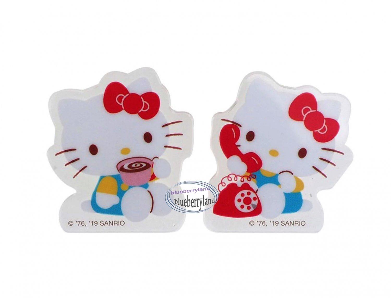 Sanrio Hello Kitty Plastic Clips 2p set School home Office CLIP ladies girls