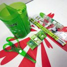 Snoopy Stationery Set Green B peanuts back to school