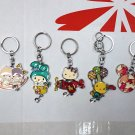 5 Pcs Kawaii Fashionable Cartoon Keychain Keyring Key Ring Chain Bag Charm Gift