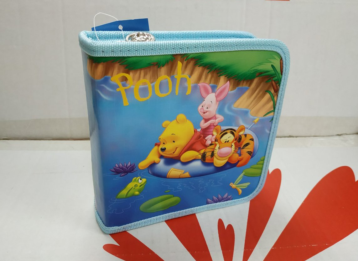 Disney Winnie The Pooh 40 CD DVD ORGANIZER STORAGE HOLDER CARRY CASE PB