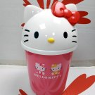 "Sanrio Hello Kitty Authentic 12"" Tall Trash Can Garbage Bin Storage Container kids girls ladies"