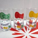 Japan Authentic Sanrio Hello Kitty 35th Anniversary Glass Cup Set of 3 Pcs in Box