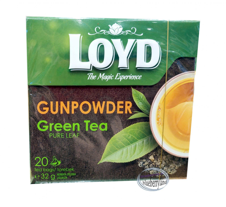 Loyd Gunpowder Green Tea Pure Leaf 20 Pyramids Tea Bags