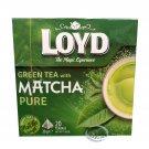 Loyd Green Tea with Matcha Pure 20 Pyramids Tea Bags