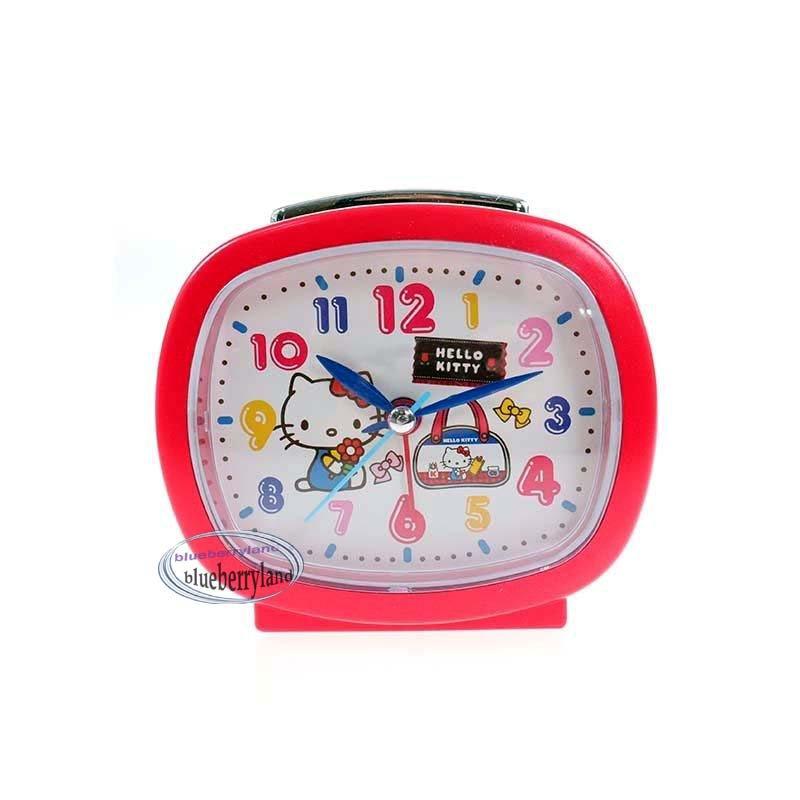 Sanrio HELLO KITTY Alarm Clock with MICRO-LIGHT / SWEEP SECOND / BI BI SOUND
