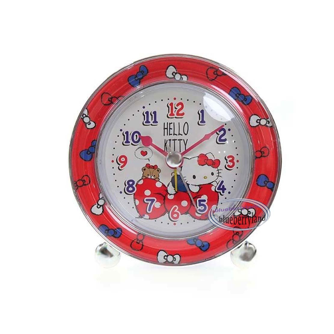 Sanrio Hello Kitty Round Shaped Alarm Clock home bedroom living room girls ladies