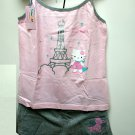 Sanrio Hello Kitty Silver Tower Stars Camisole and Panty Set pajama Size Medium girls ladies woman n