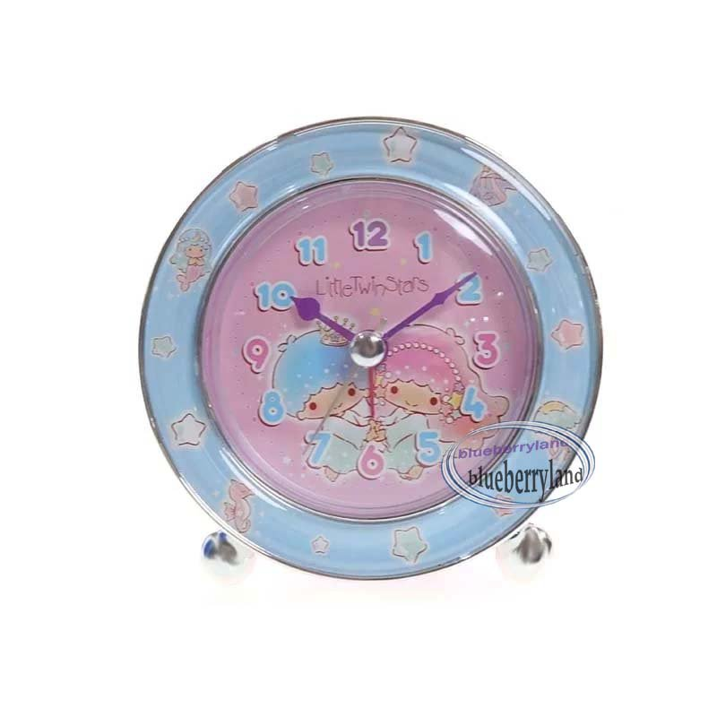 Sanrio Little Twin Stars Round Shaped Alarm Clock home bedroom living room girls ladies
