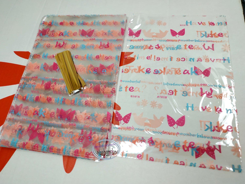"50 Pcs DIY Creative Packaging Gift Bag bags sac de cadeau size 6-1/3"" x 9-1/2"" x 1-1/4"""