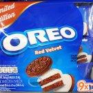 Oreo Red Velvet cream flavor Sandwich cookie Biscuit packs cookies kids ladies school